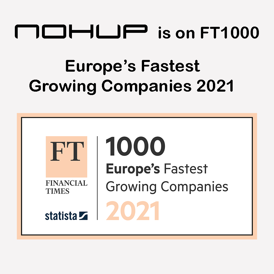 Nohup is on FT1000 - Europe's Fastest Growing Companies 2021